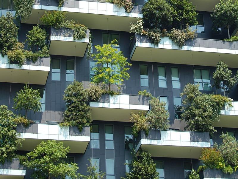 Photo of apartment balconies